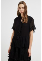 French Connection Clandre Light Ruffle Blouse