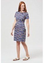 Sugarhill Boutique Brighton  Rhian Blue Bunting Shift Dress