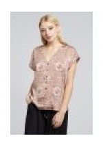 Louche Paoline Sleeve Button Pink Blouse