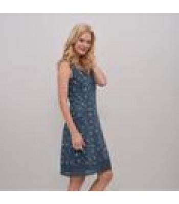 Brakeburn Boats Embroidered Dress (Navy)