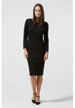 Sugarhill Boutique Bonnie Seam Detail Ponte Dress (Black)