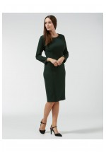 Sugarhill Boutique Bonnie Seam Detail Ponte Dress (Green)