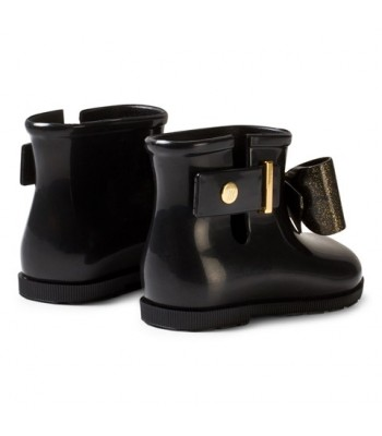 Mini Melissa Mini Sugar Rain Bow Boots (Black)