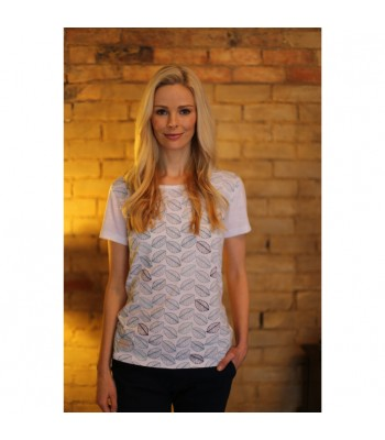 Brakeburn Abstract Leaf Boyfriend Tee