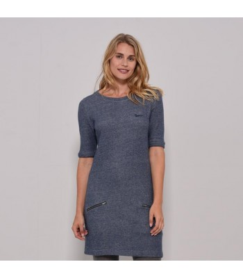Brakeburn French Terry Dress (Blue)