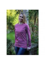 Brakeburn Yarn Dyed Stripe Long Sleeve Tee (burgundy)