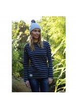 Brakeburn Yarn Dyed Stripe Long Sleeve Tee (navy/grey)