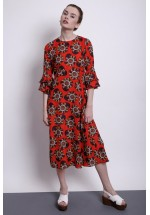Traffic People Can't Help But Smile Luck Be A Lady Midi Dress (Red)
