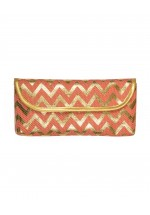 Powder Cannes Clutch Bag (Coral/Gold)