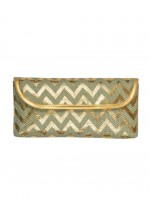 Powder Cannes Clutch Bag (Mint/Gold)