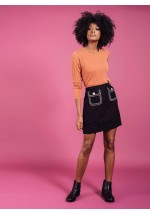 Darling Cece Tweed Short Skirt Black