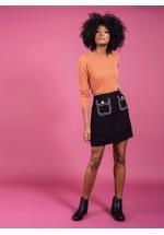 Darling Cece Tweed Short Skirt (Black)
