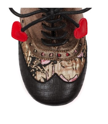 Poetic Licence For Irregular Choice Clara Bow (Black / Metallic)
