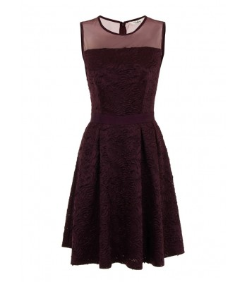 Darling Claris Sleeveless Party Dress (Damson)