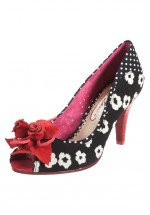 Poetic Licence Concha Beach Rose Shoes Black and Red