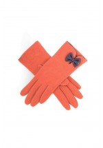 Powder Wool - Cordelia Gloves (Tangerine / Mulberry)