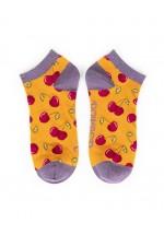 Powder New Cherries Trainer Socks (Mustard)