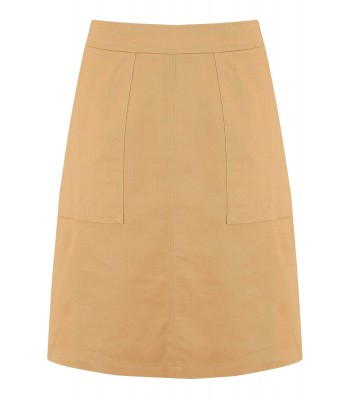 Sugarhill Boutique Daria Everyday A-Line Skirt (Tan)