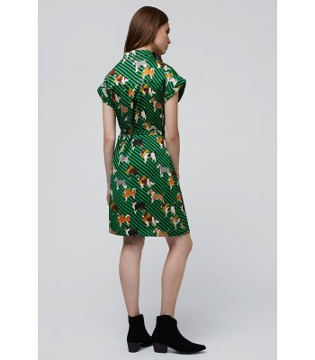 Brakeburn Sausage Dog Pleated Dress