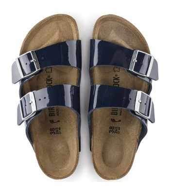 Birkenstock Womans (Dress Blue) Arizona Birko-Flor Patent