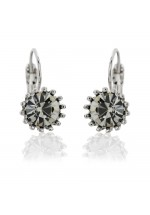 Lovett & Co Womens French Clip Swarovski Earrings