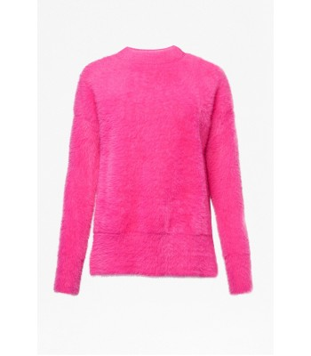 French Connection Edith Knit Side Split Jumper (Bright Prosecco Pink)