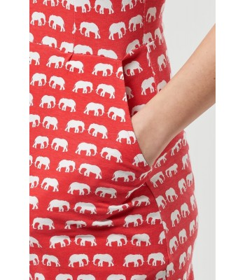 Sugarhill Boutique Brighton Elliot Miniature Elephant Jersey Red Shift Dress