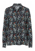 Sugarhill Boutique Erin Enchanted Woodland Printed Shirt (Black Multi)
