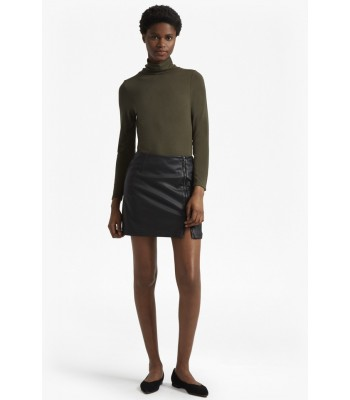 French Connection filomena faux leather mini skirt