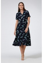Sugarhill Boutique Brighton Kendra Feather Batik Shirt Dress