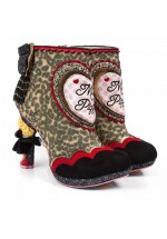Irregular Choice Disney Muppets Fierce Piggy Ankle Boots (Brown Multi)