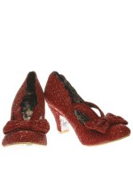Irregular Choice Final Bow (Red Glitter)