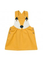 Kite Clothing Foxy Pinafore Toddler Girls (Mustard)