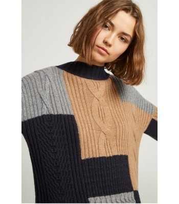 French Connection Amie Patch Knits Cable Jumper
