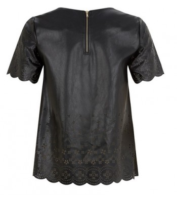 Darling Georgia Leather Look Top Black