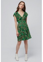 LOUCHE MELITA SWEETHEART NECK DRESS GREEN