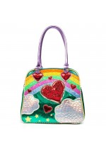 Irregular Choice Over the Rainbow Bag (Green Multi)