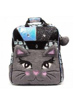 Irregular Choice Jem Cat Backpack Bag (Grey)