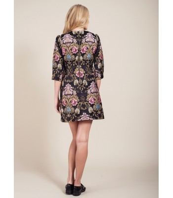 Darling Hepburn Embroidered dress Black Multi