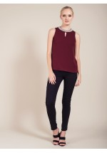 Darling Irene Sleeveless Top Damson