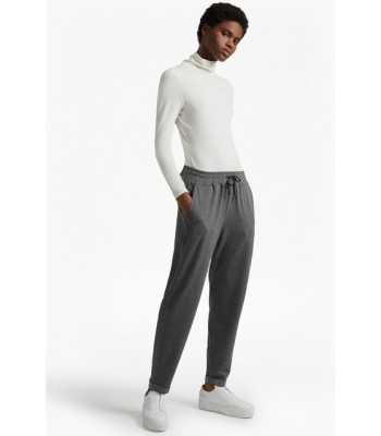 French Connection Estella Jersey Tweed Joggers (Grey)