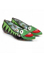Irregular Choice Disney Muppets Kermit The Frog (Black/Green)