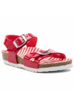 Birkenstock Rio Kids Sandal Narrow Fit ( Red Nautical Stripe )