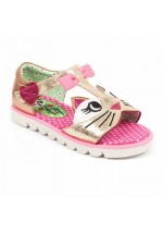 Irregular Choice Kids Kitty (Gold/Pink)