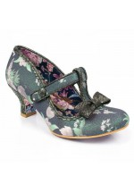 Irregular Choice Lazy River (Black/Green Floral)