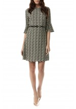 Sugarhill Boutique Leila Geo Hearts Fit and Flare Dress