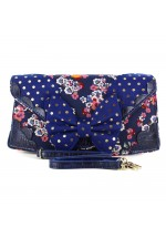 Irregular Choice Loony Lolly Floral Handbag Navy Multi