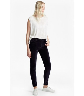 French Connetion Velvet Luxe Five Pocket Skinny Jeans (Utilty Blue)
