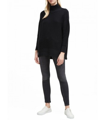 French Connection Mara Mozart High Neck Jumper (Black)