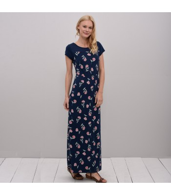 Brakeburn Summer Bloom Maxi Dress (Navy)